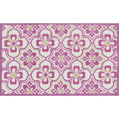 Zoey Purple/Green Area Rug Rug Size: 2 x 3