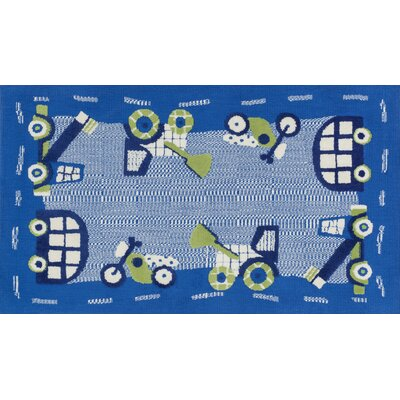 Zoey Blue/Green Area Rug Rug Size: 3 x 5