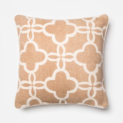 Cotton Throw Pillow Color: Beige/Ivory