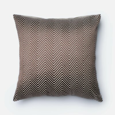 Chambray Throw Pillow Color: Brown/Beige