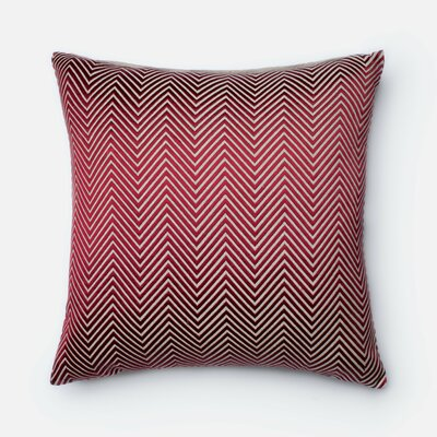 Chambray Throw Pillow Color: Red/Beige