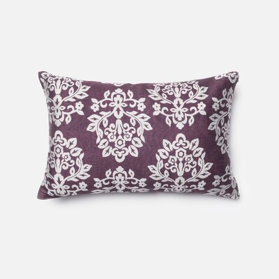 Silk Lumbar Pillow Color: Plum/Silver