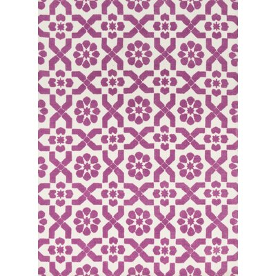 Piper Light Purple/Ivory Area Rug Rug Size: 5 x 7
