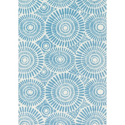 Piper Sky Blue Area Rug Rug Size: 2 x 3