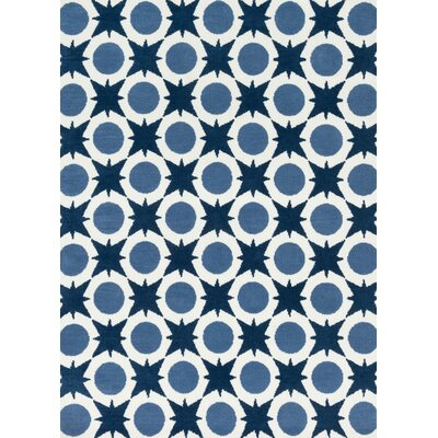 Piper Light Blue/Navy Area Rug Rug Size: 3 x 5