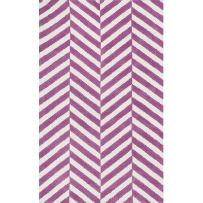 Piper Pink/White Area Rug Rug Size: Rectangle 2 x 3