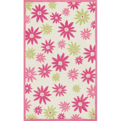 Jimenez Pink/White Area Rug Rug Size: Rectangle 5 x 7