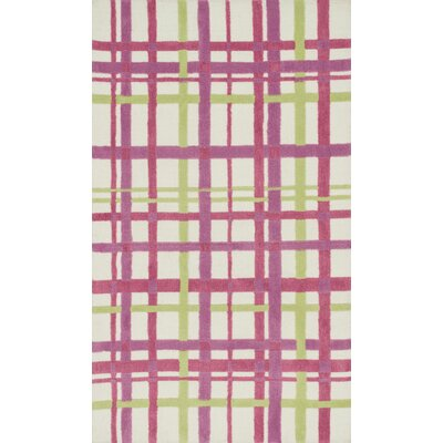 Piper Pink/White Area Rug Rug Size: 2 x 3