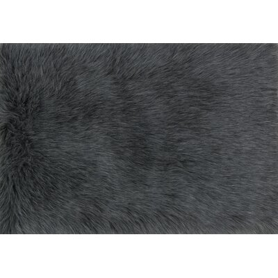 Zamorano Faux Fur Graphite Area Rug Rug Size: Rectangle 2 x 3
