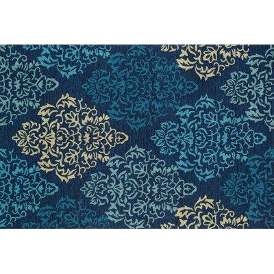Francesca Hand-Woven Navy Area Rug Rug Size: 36 x 56
