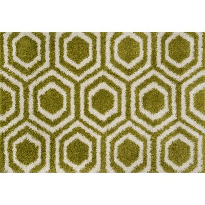 Danna Green/Ivory Area Rug Rug Size: Rectangle 77 x 105