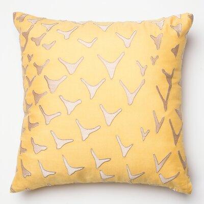 Silk Throw Pillow Color: Yellow