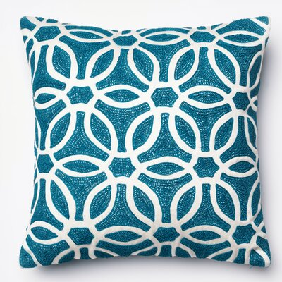 Throw Pillow Color: Blue/White