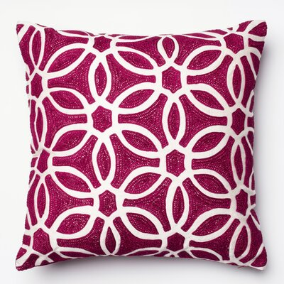Throw Pillow Color: Magenta/White PSETP0135XMWHPIL1