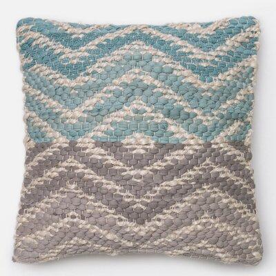 Cotton Throw Pillow Color: Blue/Gray