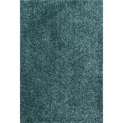 Carrera Shag Hand-Tufted Seafoam Area Rug Rug Size: Rectangle 36 x 56