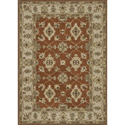 Fairfield Hand-Tufted Rust/Beige Area Rug