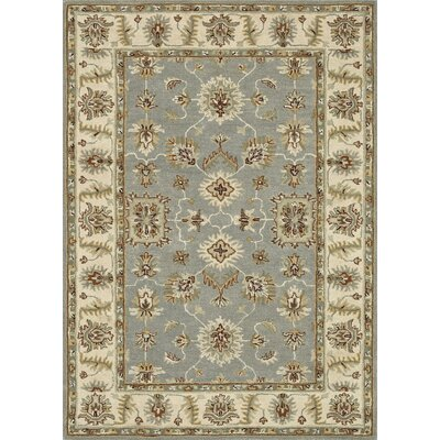 Fairfield Hand-Tufted Slate/Cream Area Rug