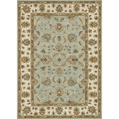 Fairfield Hand-Tufted Turquoise/Ivory Area Rug