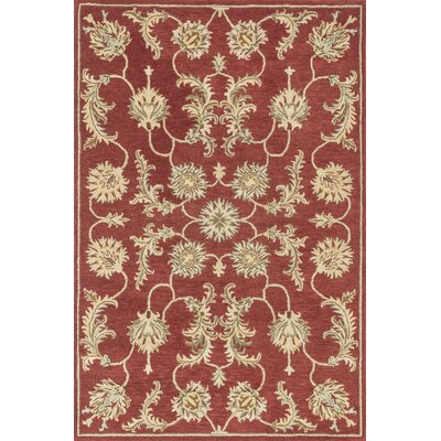 Fairfield Hand-Tufted Red/Gold Area Rug