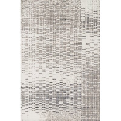 Wilde Ivory/Light Gray Area Rug Rug Size: Rectangle 93 x 13