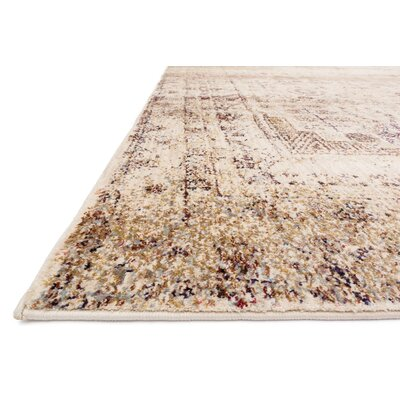 Zehner Ivory/Brown Area Rug Rug Size: Rectangle 12 x 15