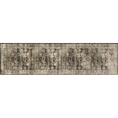 Anastasia Granite/Brown/Black Area Rug Rug Size: Runner 27 x 12