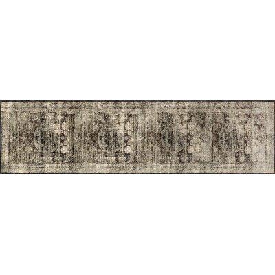 Anastasia Granite/Brown/Black Area Rug Rug Size: Runner 27 x 8