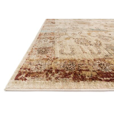 Anastasia Antique Ivory/Rust Area Rug Rug Size: 710 x 1010
