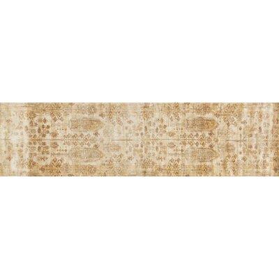 Anastasia Ivory/Gold Area Rug Rug Size: Runner 27 x 8