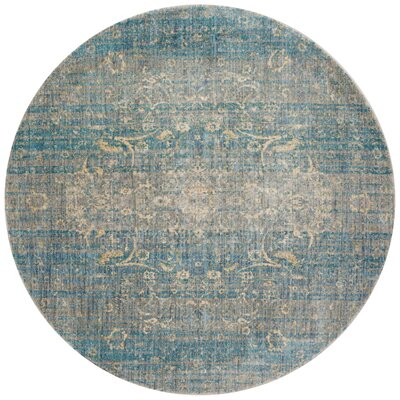Anastasia Hand-Woven Light Blue/Gray Area Rug Rug Size: 37 x 57