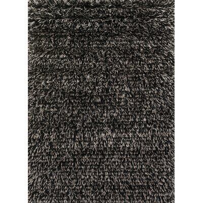 Linden Hand-Tufted Blue/Black Area Rug Rug Size: 36 x 56
