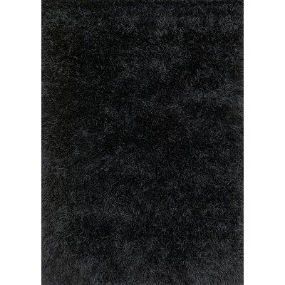 Linden Hand-Tufted Black Area Rug Rug Size: 76 x 96