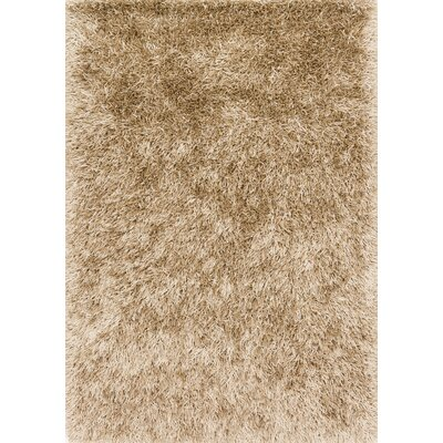 Chobanyan Hand-Tufted Beige Area Rug Rug Size: Rectangle 36 x 56