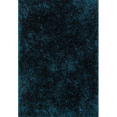 Kerstanski Hand-Tufted Blue Area Rug Rug Size: Rectangle 36 x 56