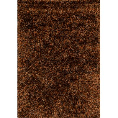 Linden Hand-Tufted Rust/Brown Area Rug Rug Size: 76 x 96