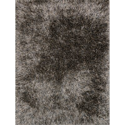 Kerstanski Hand-Woven Slate/Taupe Area Rug Rug Size: Rectangle 36 x 56