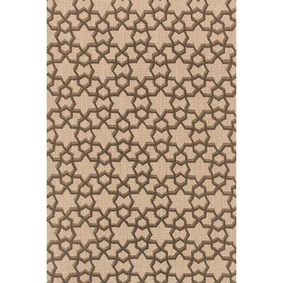 Vero Hand-Woven Beige/Brown Area Rug Rug Size: 23 x 39