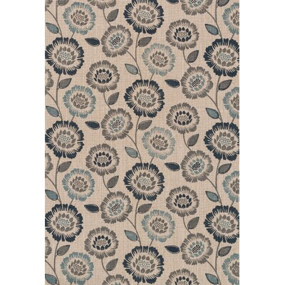 Kissena Hand Woven Nature/Blue Area Rug Rug Size: Rectangle 5 x 76