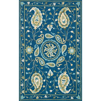 Kips Bay Hand-Woven Blue Area Rug Rug Size: Rectangle 76 x 96