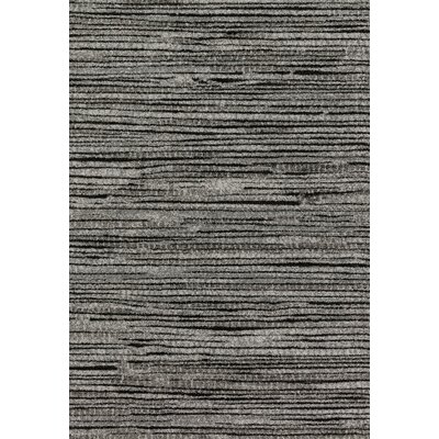 Emory Gray/Black Area Rug Rug Size: Rectangle 92 x 127