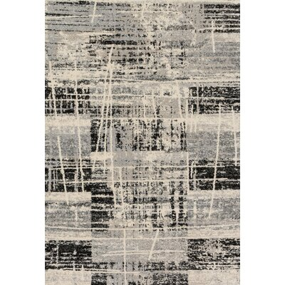 Aparicio Hand-Woven Gray Area Rug Rug Size: Rectangle 92 x 127