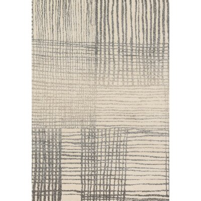 Aparicio Ivory/Gray Area Rug Rug Size: Rectangle 92 x 127