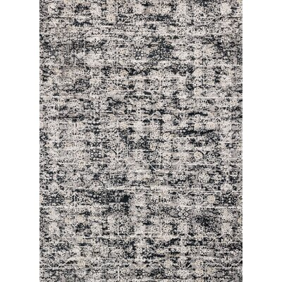 Gray/Ink Area Rug Rug Size: Rectangle 27 x 4