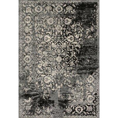 Emory Black & Ivory Area Rug Rug Size: 53 x 77