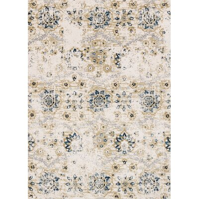 Beige Area Rug Rug Size: Rectangle 93 x 13