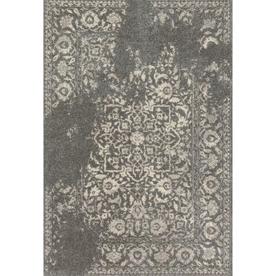Emory Hand-Woven Charcoal/Ivory Area Rug Rug Size: Rectangle 53 x 77