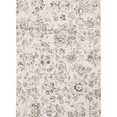 Ivory Area Rug Rug Size: Rectangle 39 x 59