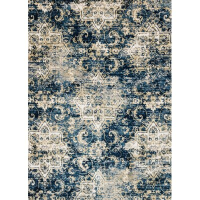 Torrance Blue Area Rug Rug Size: Rectangle 27 x 4