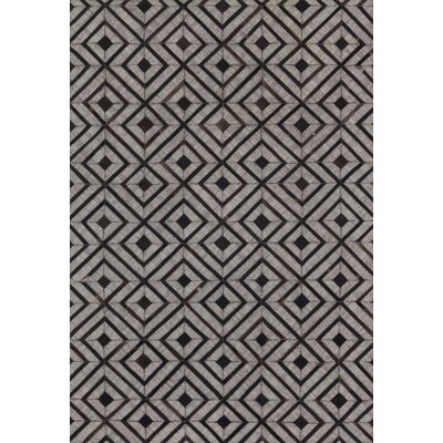 Winnett Hand-Woven Beige/Espresso Area Rug Rug Size: Rectangle 79 x 99